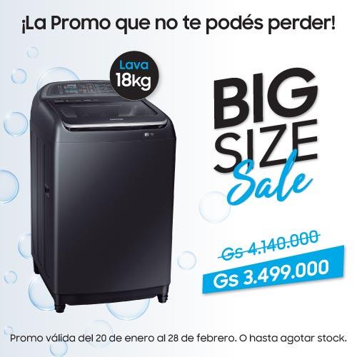 Promoción Lavarropas Samsung Carga Superior 18kg al mejor precio y más Barato en Paraguay