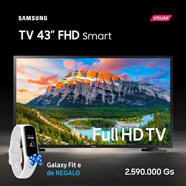 TV Samsung de 43 Pulgadas Full HD Smart TV al mejor precio en Paraguay y con un Smartwatch Galaxy Fit e de Regalo
