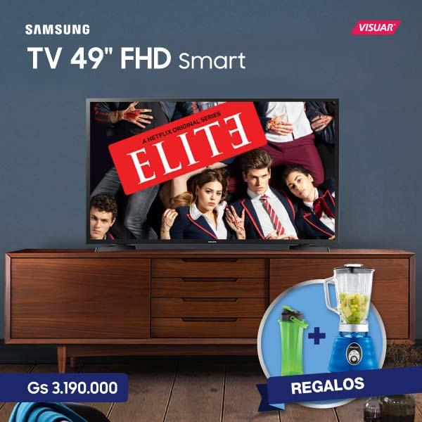 TV samsung de 49 pulgadas Full HD Smart TV con Licuadora más hoppie de Regalo