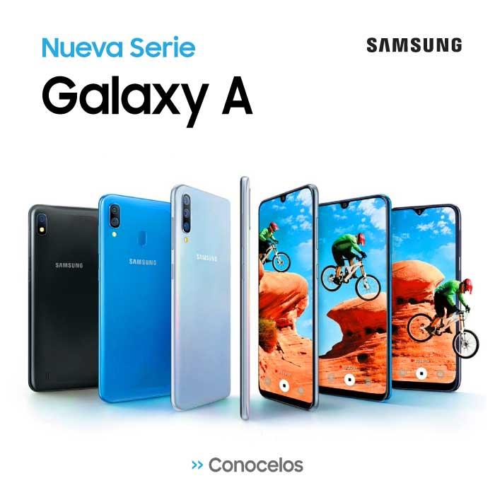 Celular-Samsung-Galaxy-A-50-al-mejor-precio-en-paraguay. Galaxy A80 - Galaxy A70 - Galaxy A50 - Galaxy A30 - Galaxy A20 - Galaxy A10. Los Smartphone más baratos están en Visuar Paraguay