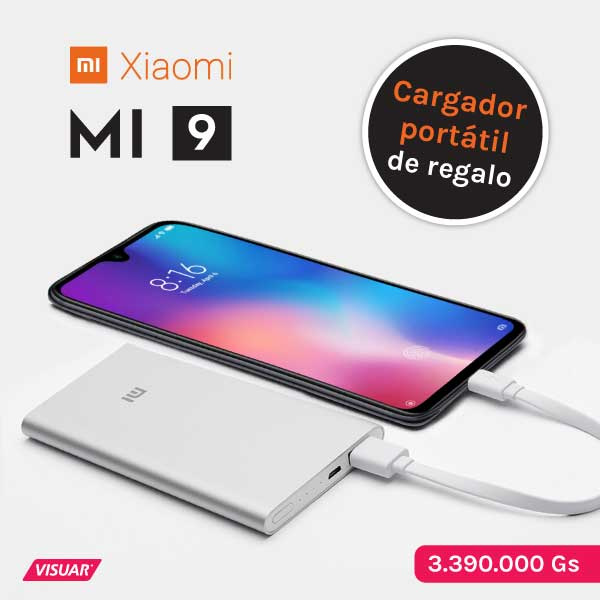 Celular Xiaomi Mi9 con funda de regalo. En Visuar encontra celulares Xiaomi al mejor precio y con super descuentos. Contamos con garantía oficial
